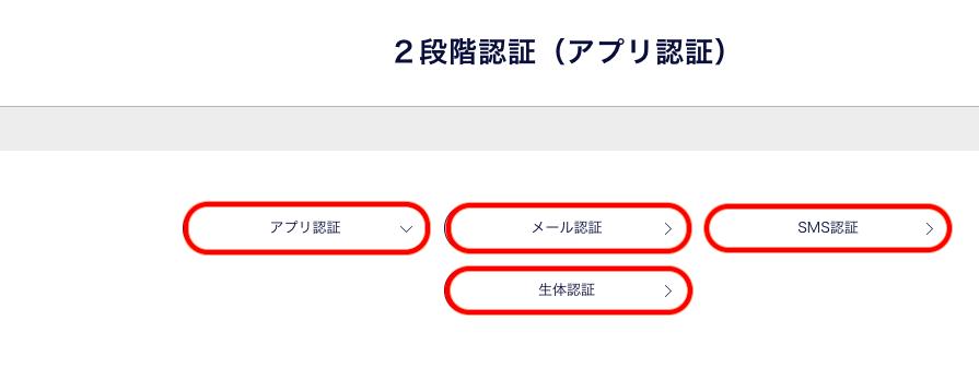 二段階認証の種類