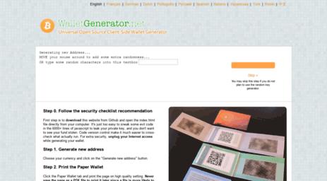Wallet Generator
